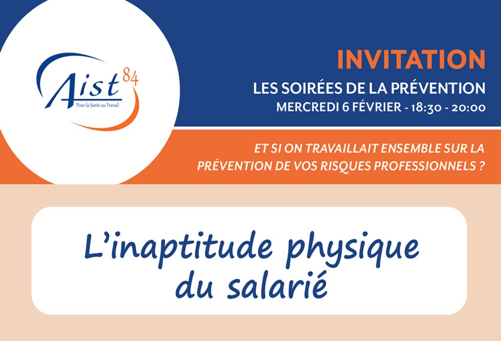 Conférence inaptitude physique du salarié
